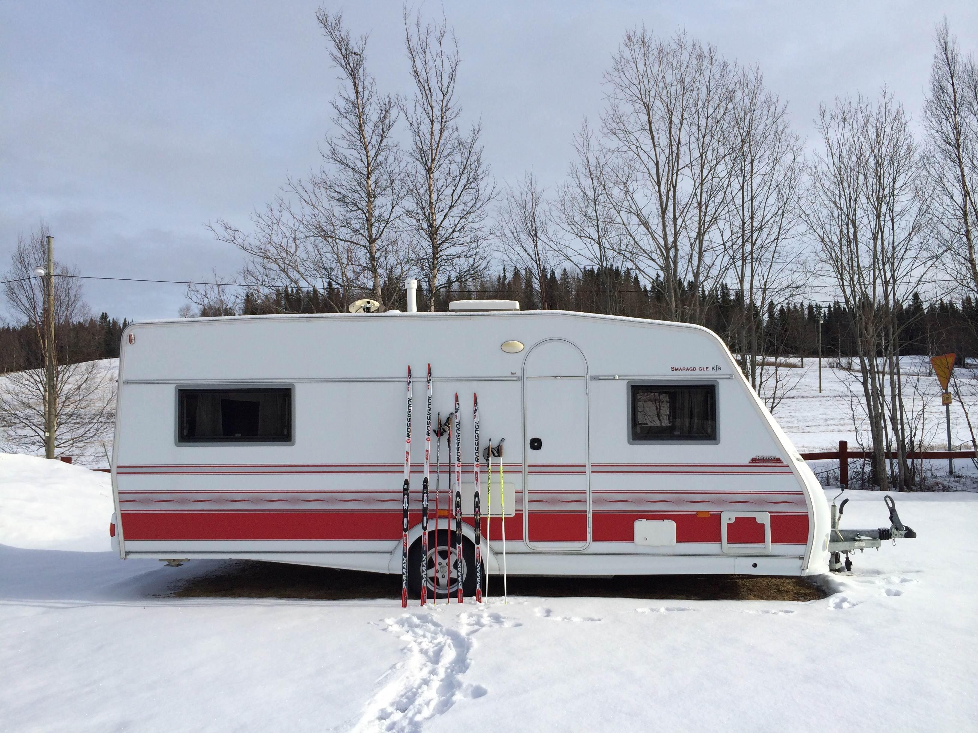 Hyr husvagn till skidsäsongen